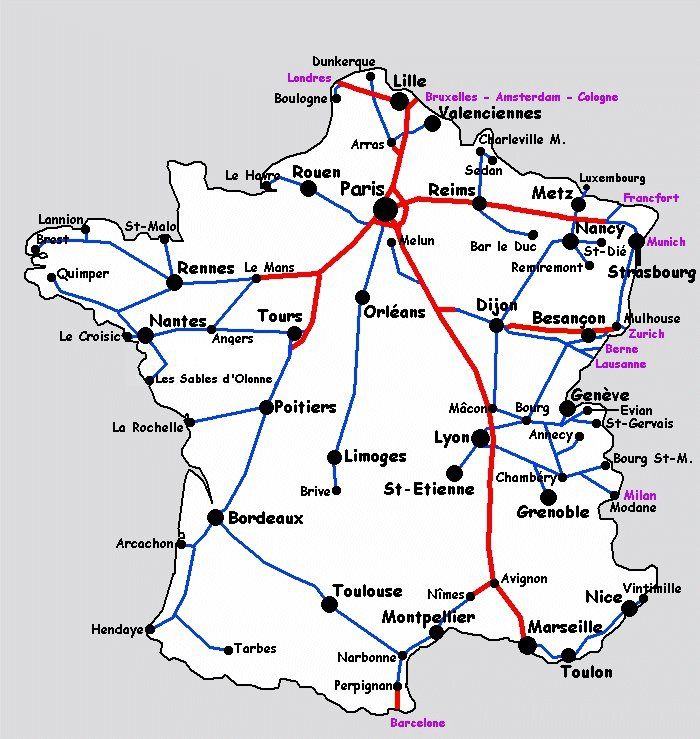 carte ferroviaire france sncf